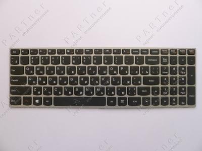 Клавиатура для ноутбука Lenovo IdeaPad G50 серебристая