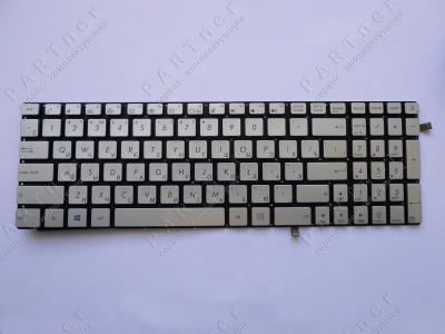 Клавиатура для ноутбука Asus N551 silver